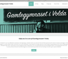 Gamlegymnaset website design
