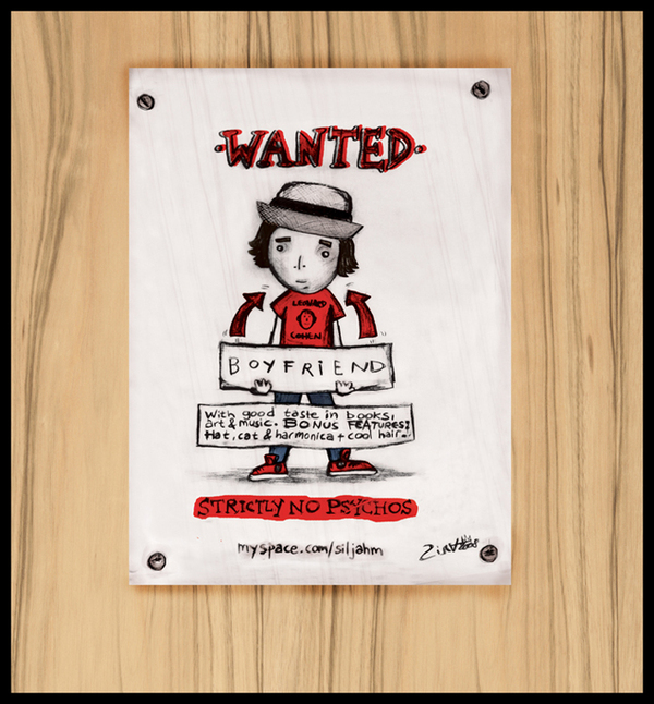 Boyfriend Wanted poster